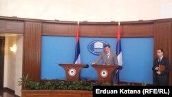 Milorad Dodik na konferenciji za novinare, 10. jun 2013.