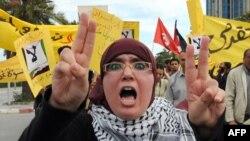 تظاهرات ضد اسرائیلی در تونس.