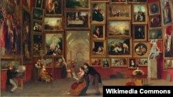 Сэм'юэл Морзэ, «Люўрская галерэя» (1833).