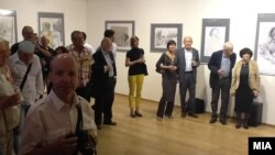"""Свечено отворање на Изложбата на Светската галерија """"Остен"""" во Галеријата на уметничката критика во Прага."""