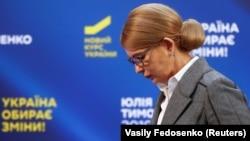 Украина президенттігіне кандидат, бұрынғы премьер-министр Юлия Тимошенко. Киев, 31 наурыз 2019 жыл.