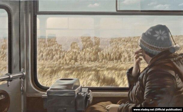 """Репродукция картины Семена Файбисовича МКАД (Из цикла """"Рейсовый автобус""""), 1984 холст, масло"""