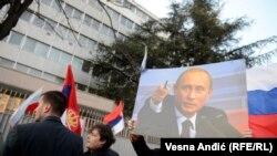 Архивное фото. Акция поддержки России в военной интервенции в Украину в Белграде, Сербия, 3 марта 2014 года.