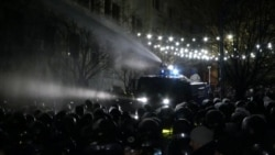Demands For Political Reform Met With Water Cannons In Georgia