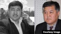 Кыргызстанские оппозиционные политики Кубанычбек Кадыров и Бектур Асанов (справа).