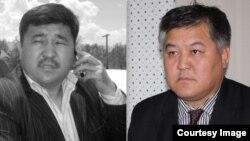 Қырғызстанның оппозициялық саясаткерлері Бектур Асанов (сол жақта) пен Кубанычбек Кадыров.