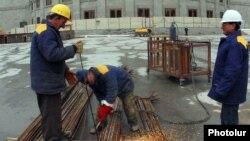 Armenia -- A construction site in Yerevan.