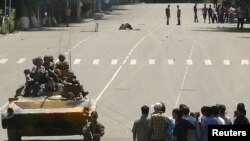 Военная техника на улицах Оша