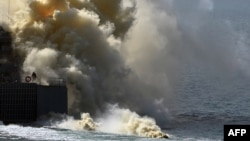 Военные учения российского флота на Черном море в Крыму. 9 сентября 2016 года.