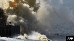 Ресей әскери-теңіз күштері Қырым жағалауы маңындағы жаттығу кезінде. 9 қыркүйек 2016 жыл.