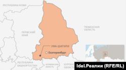 Уфа-Шигири на карте Свердловской области