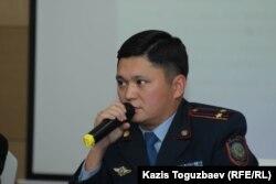 Начальник управления местной полицейской службы департамента полиции Алматы Торехан Исин. Алматы, 4 октября 2019 года.