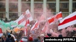 Protesta në Minsk.