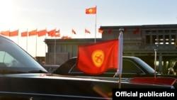 Флаг Кыргызстана.