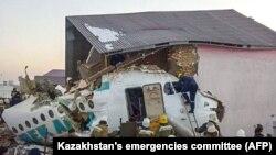 Qazahistanda olğan uçaq qazasınıñ yeri