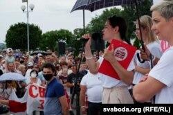 Светлана Тихановская на митинге в Речице, 26 июля 2020 года