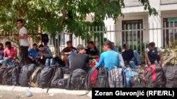 Migranti u prihvatnom centru u Preševu
