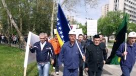 Protest radnika u Tuzli (arhivska fotografija)