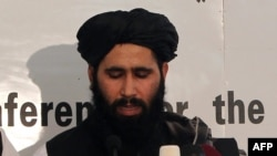 Mohammad Naim, the official spokesman for the Taliban's political office in Qatar. (file photo)