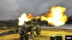 Pamje nga një ushtrim ushtarak i Koresë Jugore
