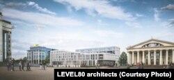 «Дынамічны» фасад у праекце LEVEL80 architects