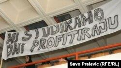 Sa jednog od studentskih protesta u Podgorici
