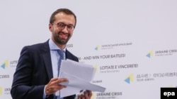 "Ukrainian lawmaker Serhiy Leshchenko, who helped expose the notorious ""black ledger"" that appeared to show millions of dollars in secret cash payments earmarked for Paul Manafort from Viktor Yanukovych's Party of Regions between 2007 and 2012. ""That's great news,"" he said on October 30, after learning of Manafort's indictment."
