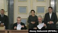 Подписание соглашения между представителями правительства Польши и горнодобывающего профсоюза, 17 января 2015