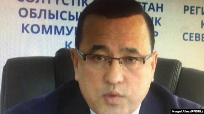 Қайрат Пішенбаев, Солтүстік Қазақстан облыстық еңбек басқармасы департаментінің бастығы. 22 мамыр 2017 жыл.