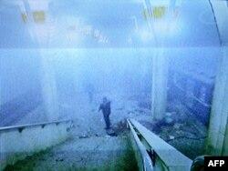 Адразу пасьля выбуху. Здымак з камэры на станцыі
