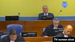 Ratko Mladić u sudnici Haškog tribunala, 9. srpanj 2012.