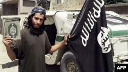 An undated picture taken from the February 2015 issue of the Islamic State (IS) group's online English-language magazine purportedly shows Abdelhamid Abaaoud, also known as Abu Umar al-Baljiki.