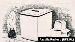 «جعبه»، کاریکاتوری از رشید شریف، کارتونیستی از جمهوری آذربایجان