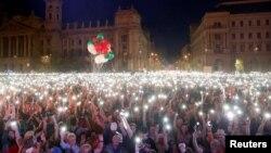 Антиурядові протести в Будапешті, Угорщина, 14 квітня 2018 року