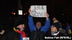 Protest anti-prezidențial la Palatul Cotroceni, București, 11 februarie 2017