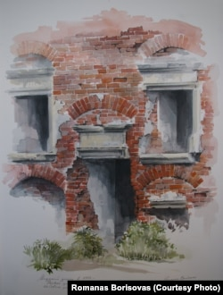 Мірскі замак да рэстаўрацыі ў 1982 годзе