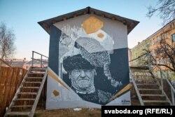 Адна з прац віцебскіх графітыстаў