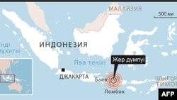 Карта района, пострадавшего от землетрясения.