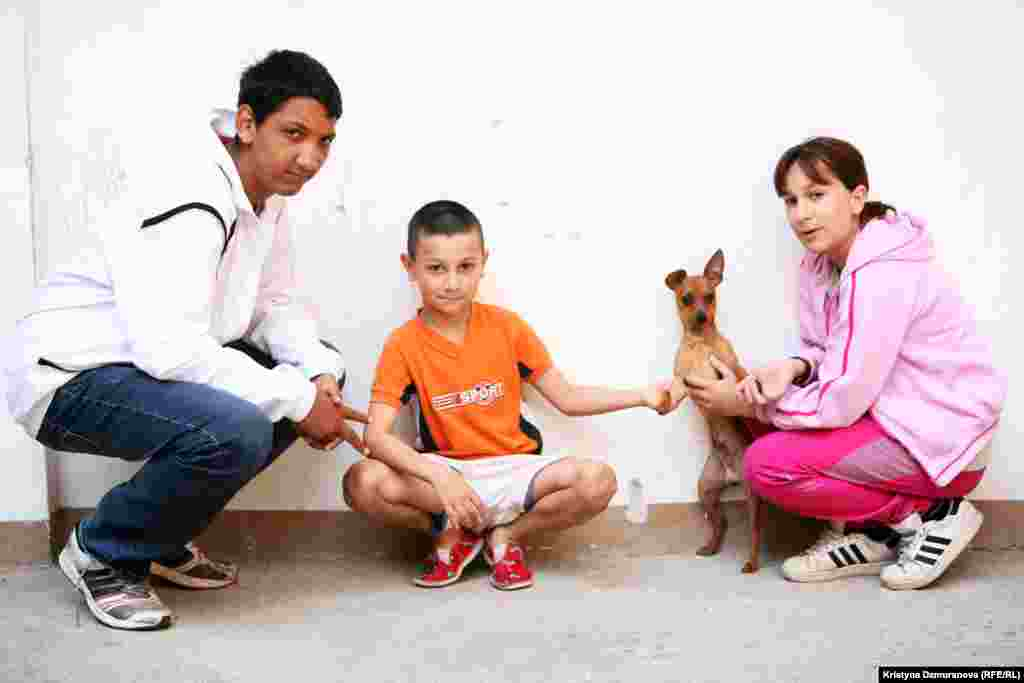These Romany children live in Prague, Czech Republic. Emil, 15, would like to be a car mechanic and have his own Skoda Octavia. Rudolf, 8, wants to be a military commando. Marcela Gynova, 11, wants to be a doctor and have a pet Chihuahua.