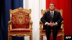 Emmanuel Macron, în aşteptarea ceremoniei de inaugurare, Paris, 14 mai 2017
