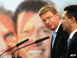 Премиерот Груевски не остана покусо на критиките од еврокомесарот за проширување Штефан Филе.
