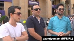 Armenia -- Iranian tourists in Yerevan speaks to RFE/RL.