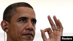 Բարաք Օբաման ՆԱՏՕ-ի լիսաբոնյան գագաթնաժողովում, 19-ը նոյեմբերի, 2010թ.