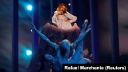 Репетиция номера Юлии Самойловой перед полуфиналом Евровидения
