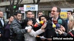Андреј Жерновски, лидерот на ЛДП (Либерално демократска партија), кандидат за градоначалник на Општина Центар во Скопје.