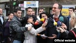 Андреј Жерновски, кандидат за градоначалник на Општина Центар во Скопје.