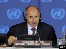 Mustafa Abdel Jalil predsenik libijskog Prelaznog nacionalnog veća u sedištu UN u Njujorku, 20. septembar 2011.