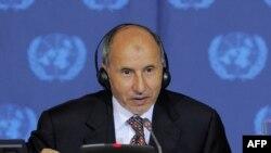 Лидер ливийского Национального переходного совета выступает с речью в ООН