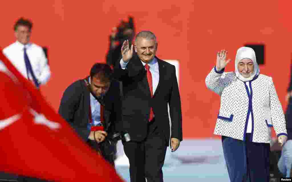 Прем'єр-міністр Туреччини Біналі Йилдирим з дружиною