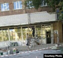 Восстановление центрального входа больницы №3.